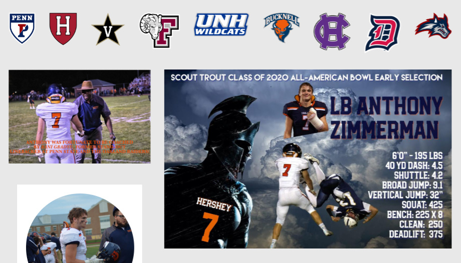 Top Linebacker Recruits 2020.Top 2020 Lb Recruit Anthony Zimmerman Hershey Hs Pa Five Star